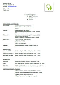 Exemple de cv de comptable - Stage en cabinet d expertise comptable ...