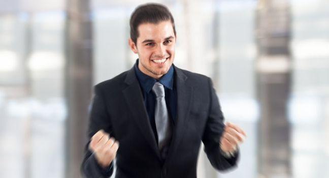 Successful happy man