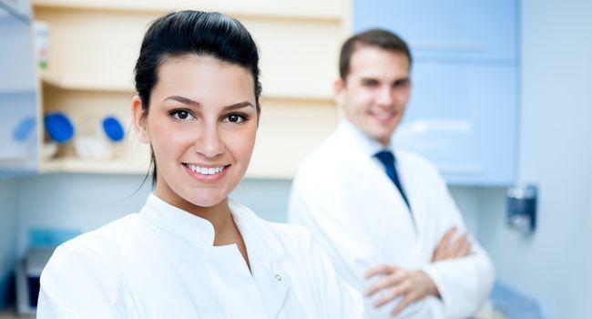 pretty female dentist
